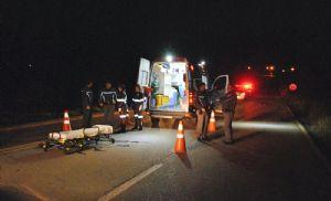 Pedestre morre atropelado na rodovia SP-264 (Crédito: Sérgio Santos)