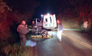 Suspeito em fuga com motocicleta furtada sofre acidente