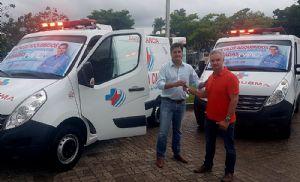 Santa Casa recebe duas ambulâncias zero quilômetro