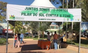 Pilar do Sul contra fome arrecada alimentos para pessoas carentes