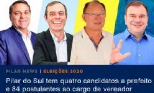 Pilar tem quatro candidatos a prefeito e 84 a vereador