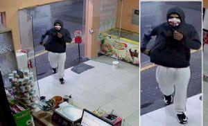 Ladrão encapuzado assalta sorveteria no centro