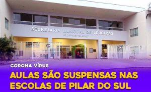 Secretaria de Educação suspende aulas em Pilar do Sul