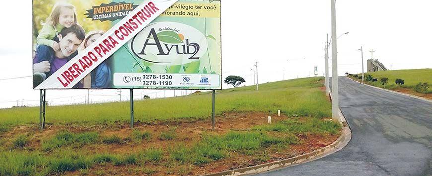 Estão liberadas as construções no loteamento residencial Ayub 2 (Crédito: Divulgação)
