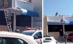Após furtar casa, ladrão sobe em telhado e dá trabalho pra PM