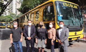 Pilar recebe ônibus escolar do Governo do Estado