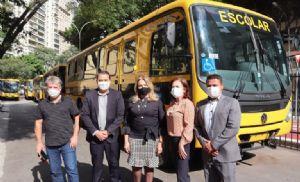 Pilar do Sul recebe ônibus escolar do Governo do Estado