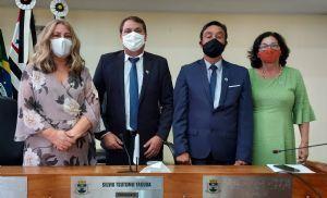 Prefeito, vice e vereadores tomam posse em Pilar do Sul