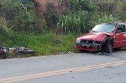 Operador de motosserra morre em acidente entre moto e carro na rodovia SP-250