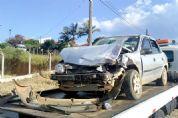 Mulheres ficam feridas em colisão frontal entre veículos no Bela Vista