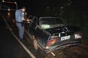 Veículo parado na estrada da Reunidas provoca acidente e dois ficam feridos