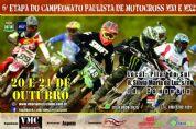 Pilar do Sul recebe no domingo etapa do Campeonato Paulista de Motocross