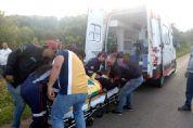 Casal e bebê ficam feridos em capotamento na SPV-093, no bairro Boa Vista