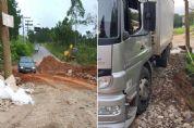 Obra interdita parcialmente estrada Pilar à Tapiraí, no bairro Quaresmal