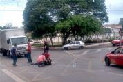 Motociclista fica ferido em colisão com camionete na D. Lucio