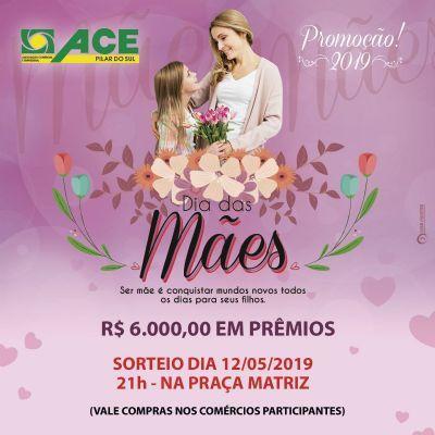 Comércios pilarenses vão sortear R$ 6 mil em prêmios no Dia das Mães