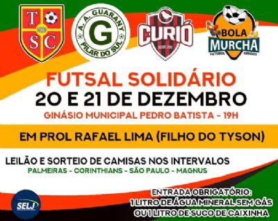 Futsal solidário nesta quinta e sexta para ajudar uma criança com câncer