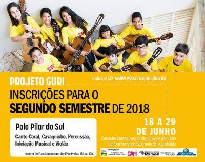 Inscrições abertas para os cursos de música do Projeto Guri