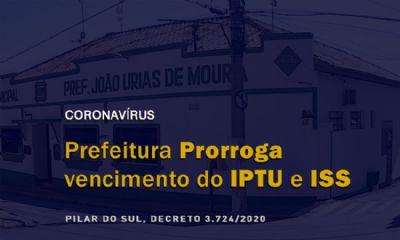 Prefeitura prorroga prazo para pagamento de IPTU e ISS