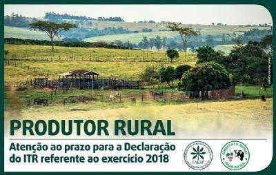 Produtor Rural deve fazer declaração do ITR no mês de setembro