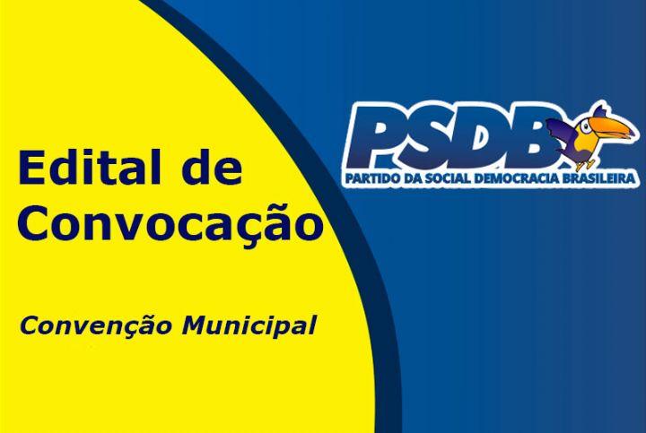 Partido da Social Democracia Brasileira (PSDB) convoca filiados para Convenção Municipal