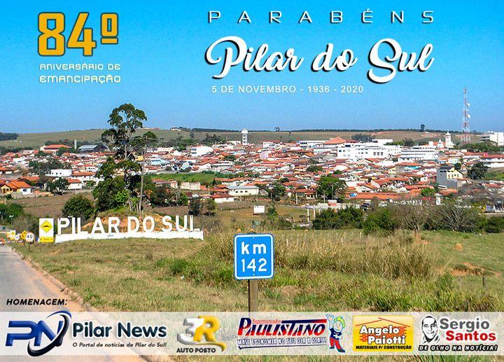 Pilar do Sul celebra hoje 84 anos de emancipação política-administrativa