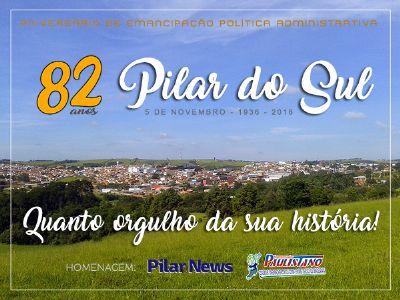 Pilar do Sul celebra hoje 82º aniversário de emancipação política-administrativa