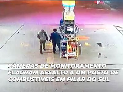 Ladrão é preso após assaltar posto de combustíveis