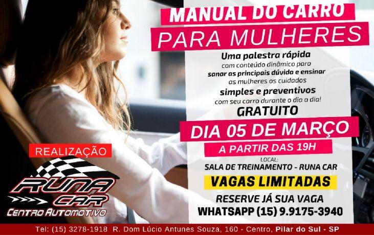 Runa Car promove palestra de manutenção preventiva para mulheres