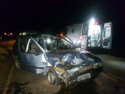 Quatro feridos em acidente na SPV-093 na Reunidas