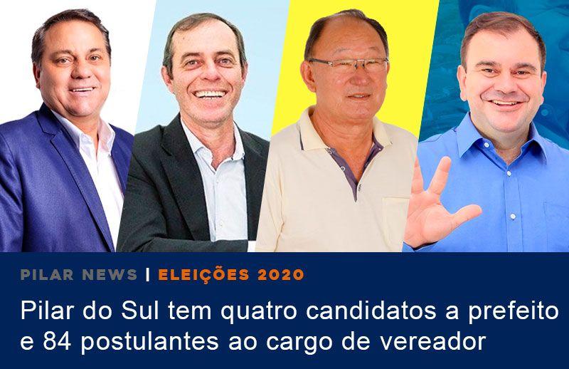 Corrida eleitoral em Pilar do Sul tem quatro candidatos a prefeito e 84 a vereador