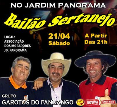 Sábado tem bailão na sede da associação de moradores do Jardim Panorama
