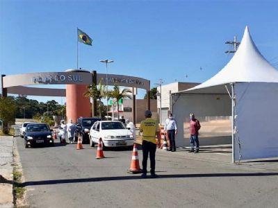 Prefeitura promove barreiras sanitárias nas entradas da cidade