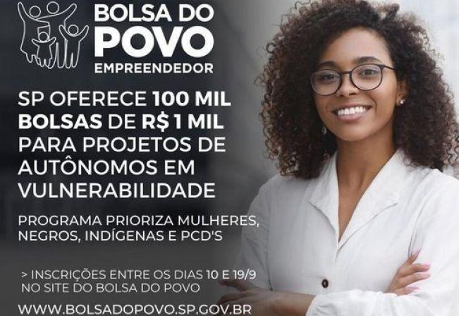 Inscrições abertas para o Bolsa Empreendedor, destinado à trabalhadores autônomos
