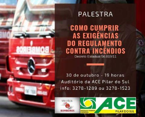 ACE promove palestra sobre normas e exigências dos Bombeiros para as empresas