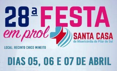 De sexta a domingo será realizada a festa em prol a Santa Casa