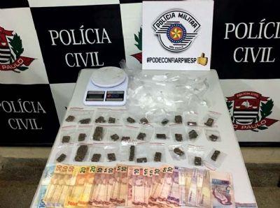 PM e Civil prendem casal acusado de tráfico de drogas no Jardim Nova Pilar
