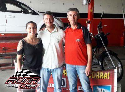 Cliente do Jardim Marajoara é o ganhador da moto Honda 0km da Runa Car