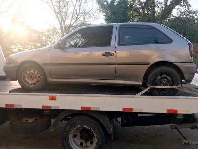Veículo VW Gol furtado em Pilar é encontrado depenado em Sorocaba