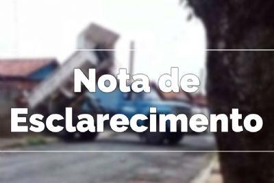 Prefeitura emite Nota de Esclarecimento sobre entrega de materiais de construção