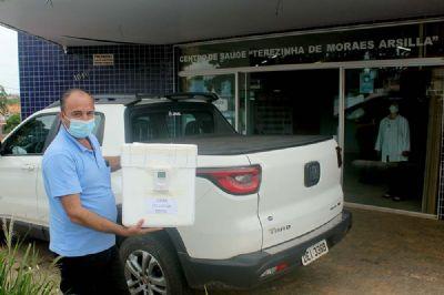 Pilar do Sul recebe as primeiras doses da vacina Coronavac