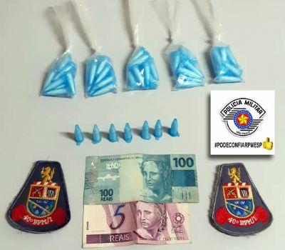 PM apreende entorpecentes e acusado de tráfico na Nova Pilar