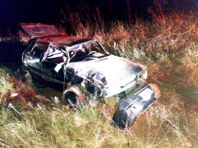 Motorista morre em capotamento na vicinal SPV-093